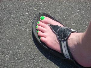 Cynthia's foot.