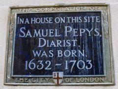 Samuel Pepys Plaque